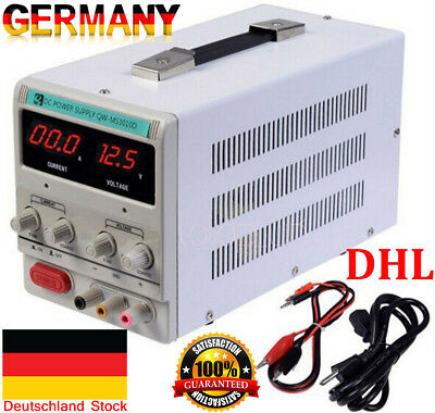 Digital DC Power Supply 30V 10A Precision Variable Adjustable LabGrade EU DE DHL