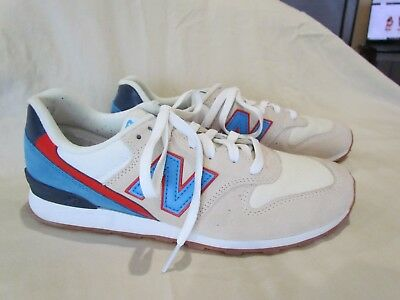 7fa87e3117d13 Women s New Balance for J. Crew Size 9.5 Beige Blue Sneakers Athletic Shoes