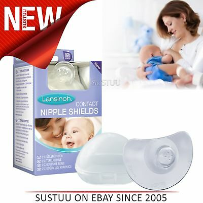 New Lansinoh Contact Nipple Shields│Baby Kid's Feeding Accessories│BPA Free│20mm