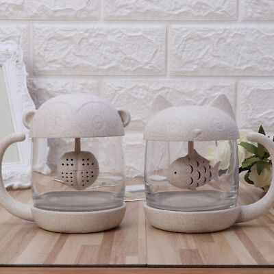 Creative Strainer Cat Monkey Tea Infuser Cup Grasses Mug For Kitchen Tools 1PC