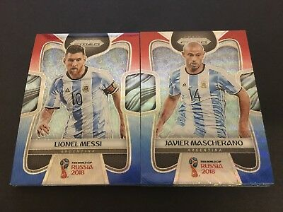 2018 FIFA World Cup Panini Prizm 'Red & Blue Wave' ARGENTINA - SELECT YOUR CARD