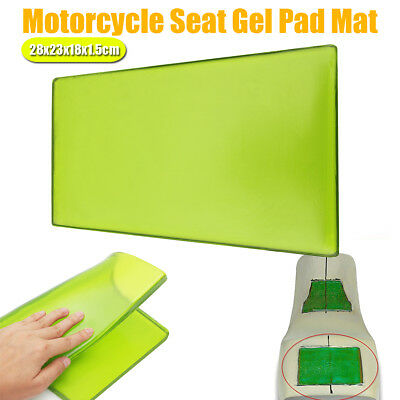 AU Motorcycle Seat Gel Pad Cooling Cushion Shock Absorption Mat 28x23x18x1.5cm