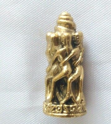 Statue 7 Nari round Paladkik  Fully Love Luck Charm Trade Wealthy Thai Amulet