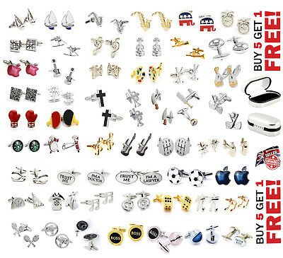 Profession Cufflinks Collectable Souvenirs Gift, Various Designs With Black Box