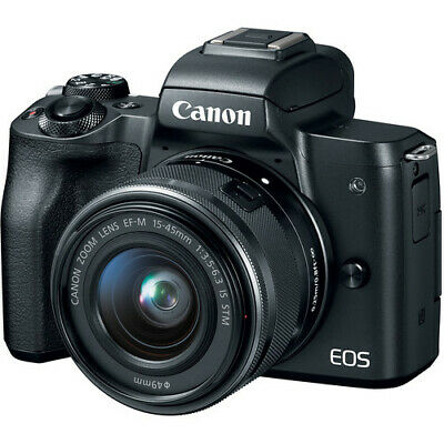 Canon EOS M50 Mirrorless Digital Camera with 15-45mm Lens (Black) BRAND NEW
