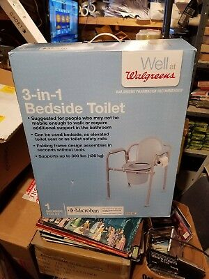 3 in 1 bedside toilet new