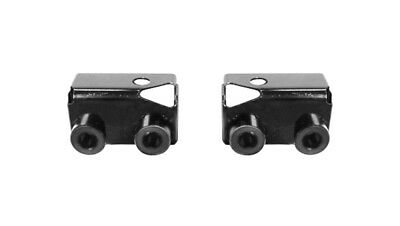1969 1970 Ford Mustang Rear Spoiler Lower Support Brackets Black # 69-20864 New