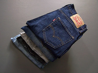 Vintage Levis 511 Stretch Denim Jeans Elastane Slim Straight Leg