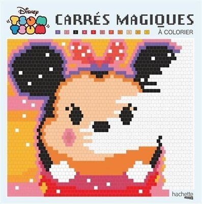 Disney Tsum Tsum Pixel Art Adult Colouring Book By Numbers