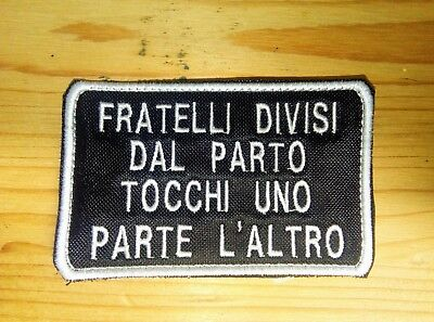 TOPPA Patch FRATELLI DIVISI AIRSOFT SOFTAIR NOME ESERCITO ASD NICK NAME