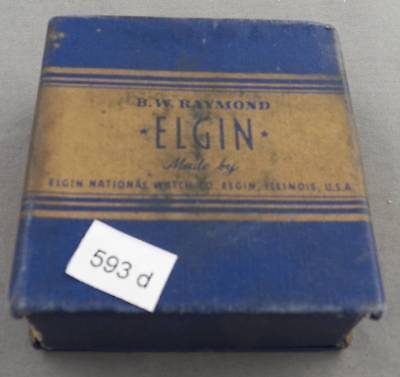 Elgin B. W. Raymond 21J, Gr. 571, Railroad Pocket Watch, Original Box, Excellent