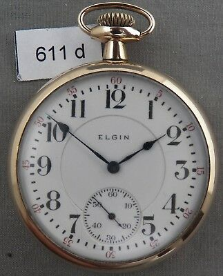 Scarce 16 Size, Elgin B. W. Raymond 17j, Gr. 370, Railroad Pocket Watch