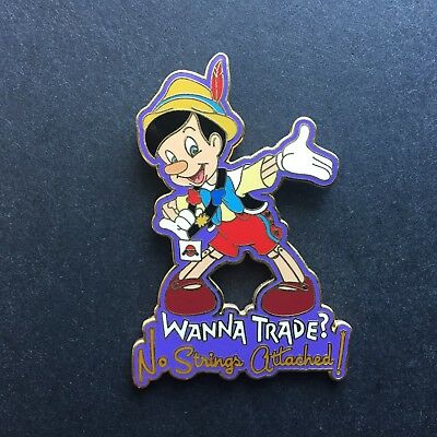 WDW - Wanna Trade? No Strings Attached! Pinocchio LE 1000 Disney Pin 33327