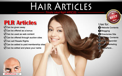 600+ PLR Articles on Hair Niche Private Label Rights