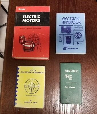 Vintage Electrical Hand Book Lot of 4, Motors, reference, 70s, 80s, 90s