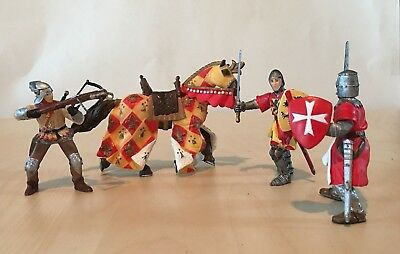 RED CROSSBOW MEDIEVAL SOLDIER 39752 PAPO P67