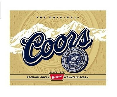 The Original COORS Gold Label Rocky Mountain Beer Tin Metal Sign