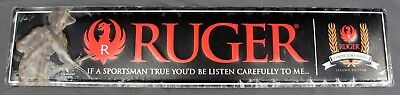 "Ruger ""Early Instruction"" Carl Kauba Collectors Embossed Tin Sign #PM374 24""x5"""