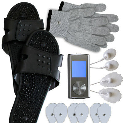Tens Unit Machine with Accessories Pads Shoes Gloves Extra Pads US Seller