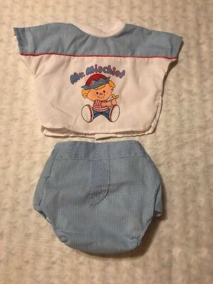 Vintage Cotton Candy 2 Piece Infant Baby Boy MR. MISCHIEF Outfit Set O/6 Months