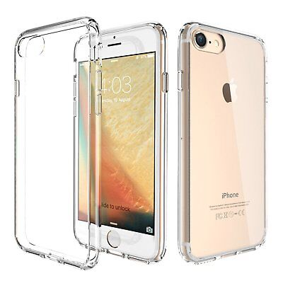 online store 3559e d9b8e NEW FOR APPLE iPhone 8 7 Hard Clear Case Bumper TPU Protective Shockproof  Cover