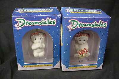 Pair of Dreamsicles Christmas Ornaments