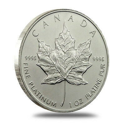 1 oz Canada $50 .9995 Fine Platinum Maple Leaf Coin - Random Dates - Gem BU