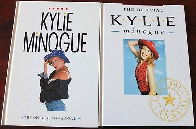 Kylie Minogue Official Annuals (1990/91) Hardback Books Uk