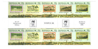 "1988 The Early Years ""SYDPEX88"" full gutter strip of 10. MNH.Very scarce & cheap"