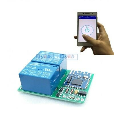 dc 12v /5v Bluetooth relay switch module wireless remote control phone APP motor