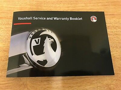 New Vauxhall Service Book Genuine Not Duplicate All Petrol And Diesel Cars/vans