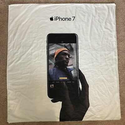 Offical Apple Store iphone 7 Display Sign Fabric Banner Advertising Art