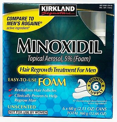 Kirkland Minoxidil 5% Extra Strength Men Hair Regrowth Foam + Free Shipping