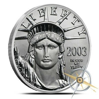1 oz .9995 Fine Platinum $100 American Eagle Coin - Gem BU - Our Choice Dates