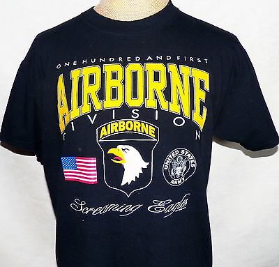 Vintage USA Army 101st Airborne Division Screaming Eagles T Shirt Extra Large XL