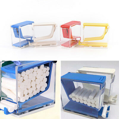 Dental Equipment Cotton Roll Dispenser Holder Case Press Type See-through ToolQY