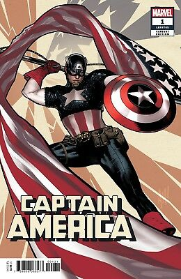 CAPTAIN AMERICA #1 - Hughes Variant - NM - Marvel Comics - Presale 07/04