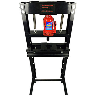 BIG BLACK STEEL Frame Hydraulic System Shop Press 20 Ton Capacity ...