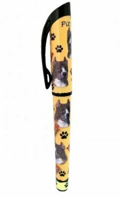 Pitbull Brindle Gel Pen Refillable Black Gel Ink Dog Gift Pit Bull