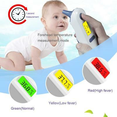 LCD Digital Non-contact IR Infrared Thermometer Ear Forehead Body Temperature
