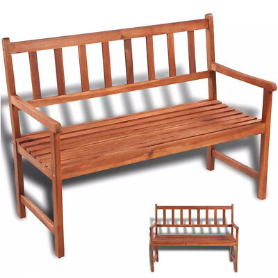 Brilliant Garden Wooden Bench Chair Acacia Wood Outdoor Seating Patio Onthecornerstone Fun Painted Chair Ideas Images Onthecornerstoneorg