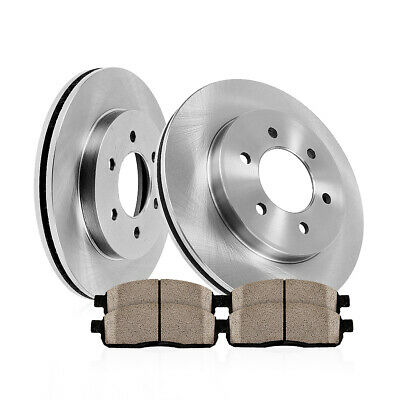 Front Rotors & Ceramic Pads For 2010 2011 - 2015 Cadillac SRX 2011 Saab 9-4X