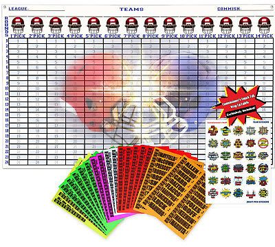 2018 FANTASY FOOTBALL Draft Kit 5ft x 3ft Jumbo Board 4