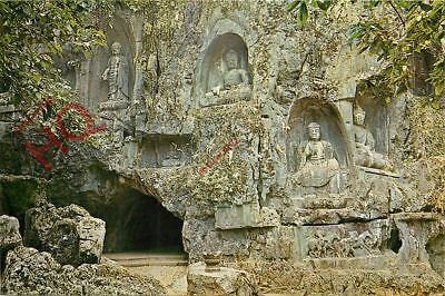 Picture Postcard:-China, Exterior View Of Lunghung (Roar Of Dragon) Cave