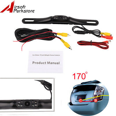 Car License Plate Rear View Camera Reverse Backup 170°Adjustable Night Vision