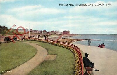 Picture Postcard:-Salthill And Galway Bay, Promenade [Valentine's]