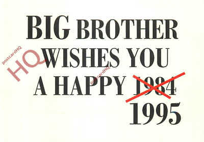 Picture Postcard:;J.S. Faber, Big Brother 1995 [Art Unlimited]