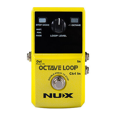Nux Octave Loop Looper Pedal with Octave Effect - New
