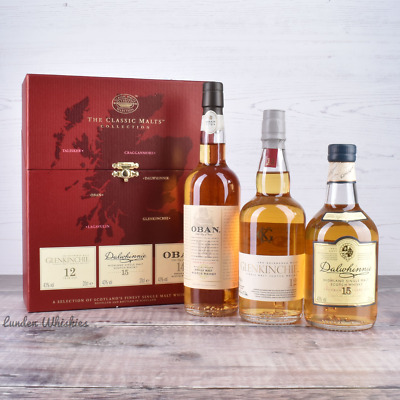 The Classic Malts Collection Oban / Dalwhinnie / Glenkinchie Gift Pack (3x200ml)