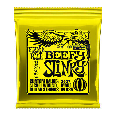 Ernie Ball 2627 Electric Guitar Strings Beefy Slinky 11-54 - New